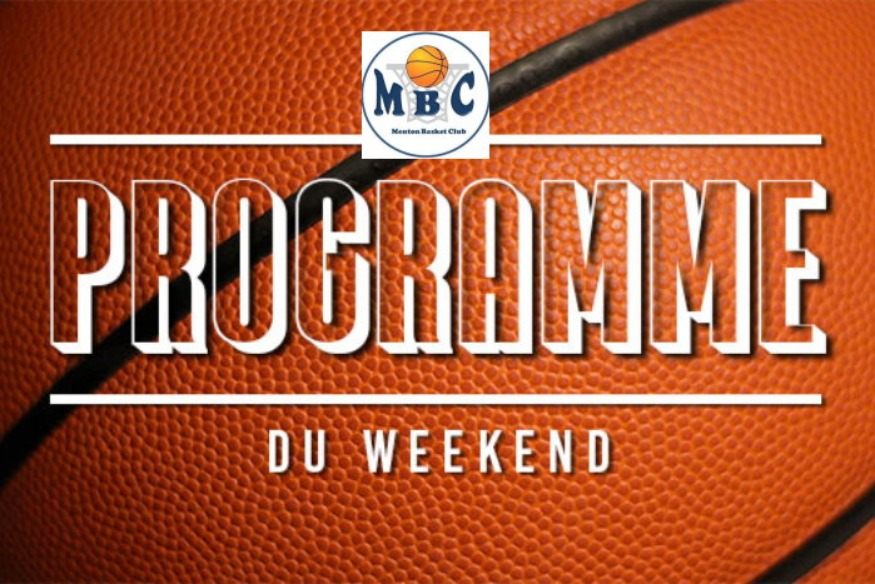 Menton Basket Club programme week-end du 15 au 16 Décembre 2018